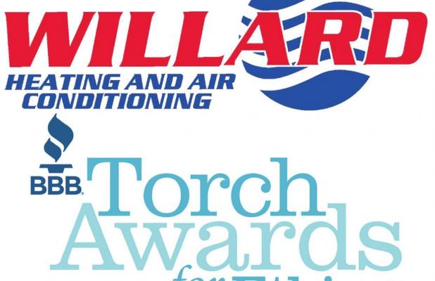 Willard Heating & Air Conditioning Named Finalist in BBB Torch Awards for Ethics