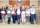 School Board Recognizes High School Bands
